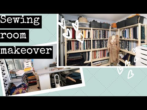 Sewing Room Makeover!! PT. 1 FABRIC ORGANISATION