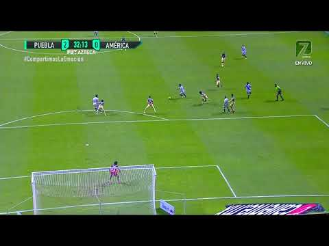 Gol de B. Cuesta   Puebla 2 - 0 América   Liga MX - Guardianes 2020 - Jornada 9   LIGA BBVA MX