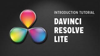 Davinci Resolve Lite - Introduction Tutorial