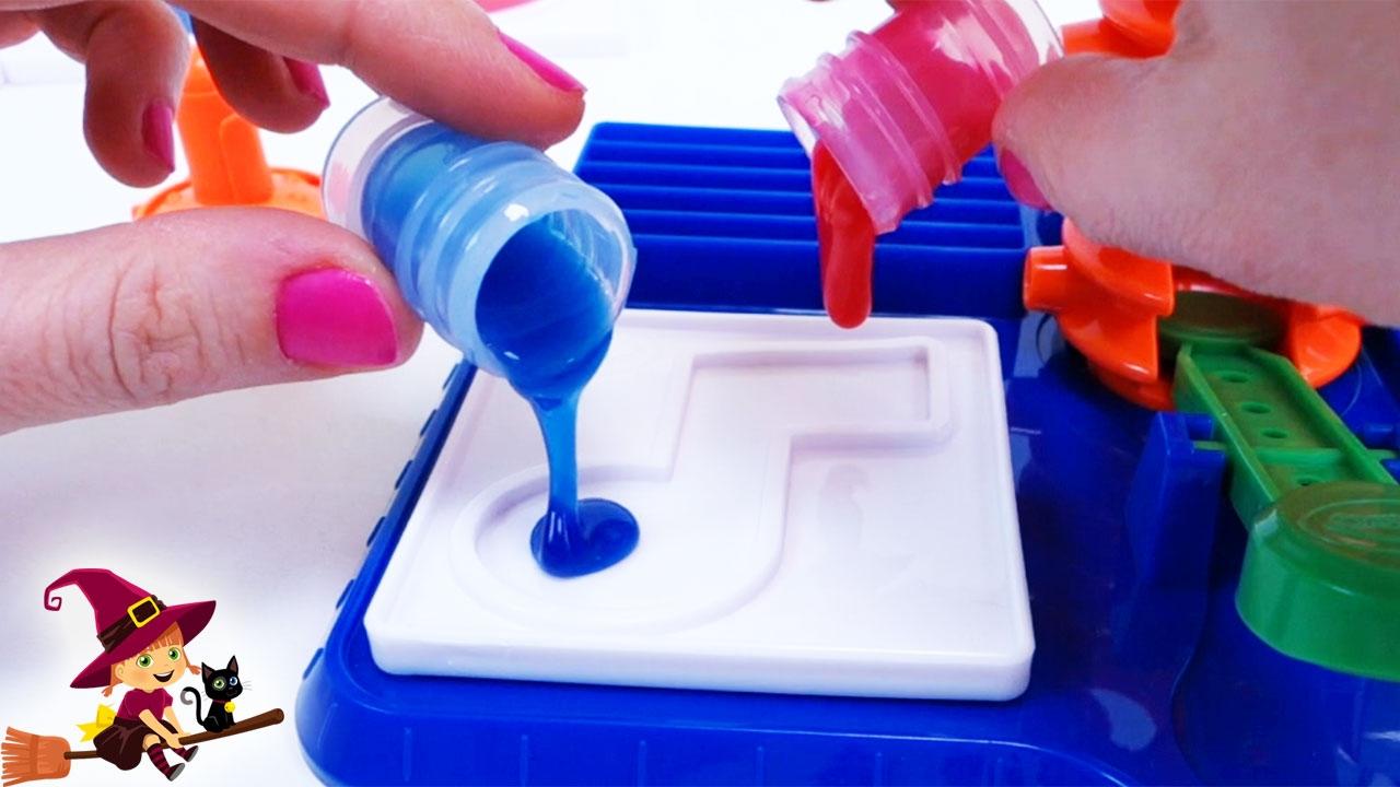 Las pegatinas hechas de slime juguetes de manualidades - Cosas de manualidades para ninos ...