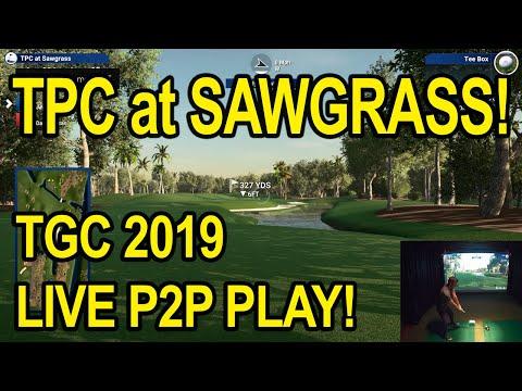 Playing TPC Sawgrass With The Flightscope Mevo Plus Vs GC2 On TGC 2019