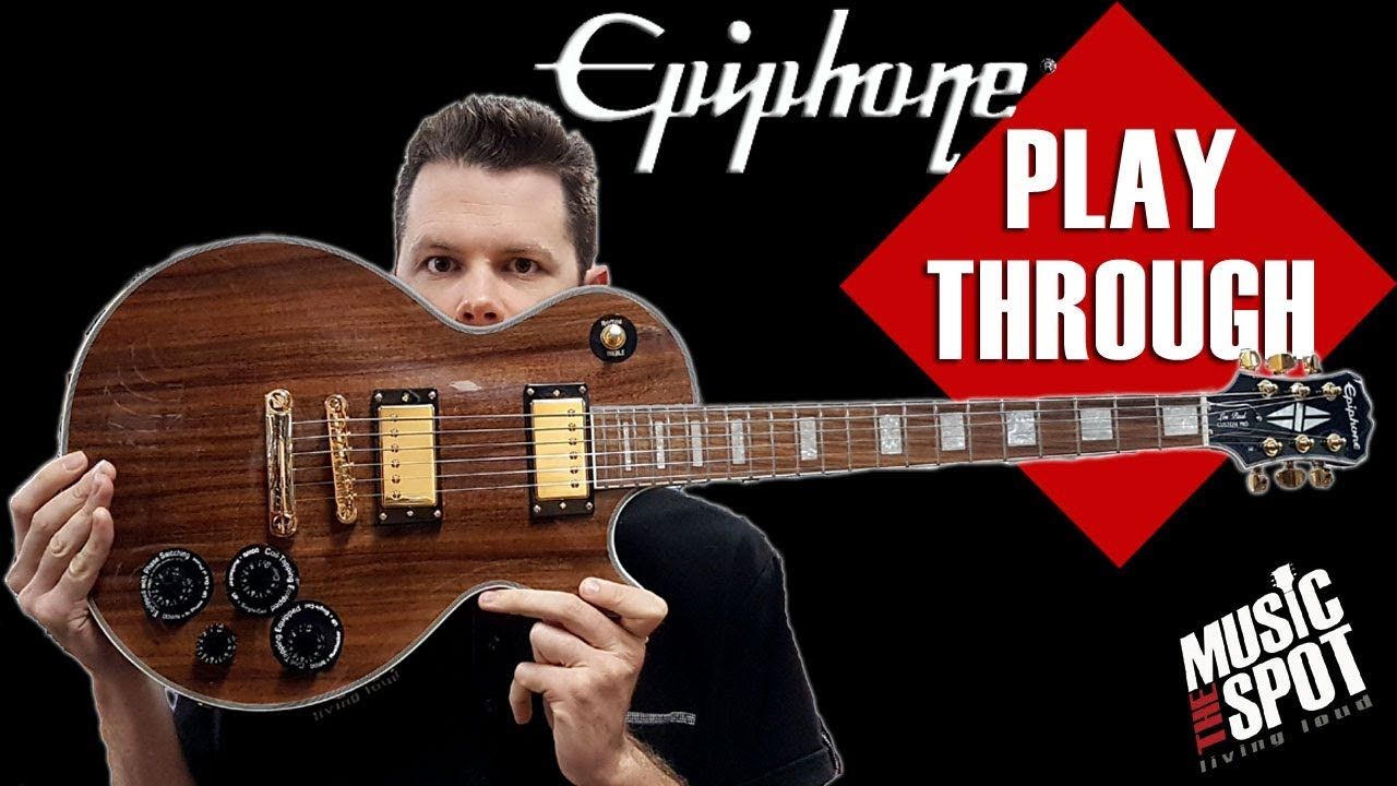 playthrough epiphone limited edition les paul custom pro koa youtube. Black Bedroom Furniture Sets. Home Design Ideas