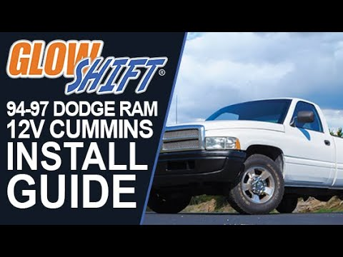 glowshift oil pressure gauge wiring diagram att uverse how to install 1994 1997 dodge ram 12v cummins gauges