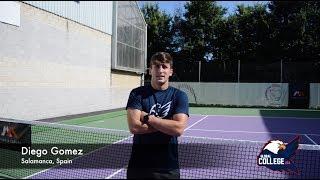 Diego Gómez - College tennis recruiting video Fall 2019