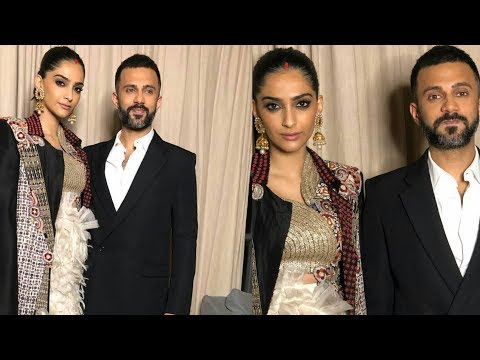 Sonam Kapoor looks stylish in Sindhoor with Anand Ahuja first time fashion event after marriage