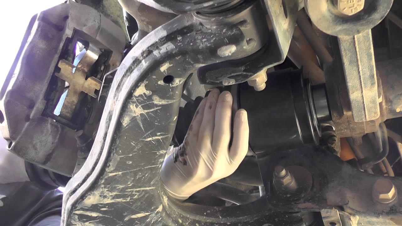 Installing Cv Shaft Into Prado Front Diff
