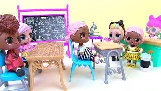 #Куклы Лол Мультик! Пупсы Лол из Капсул попадают в Новую Школу! Lol Surprise Видео для детей