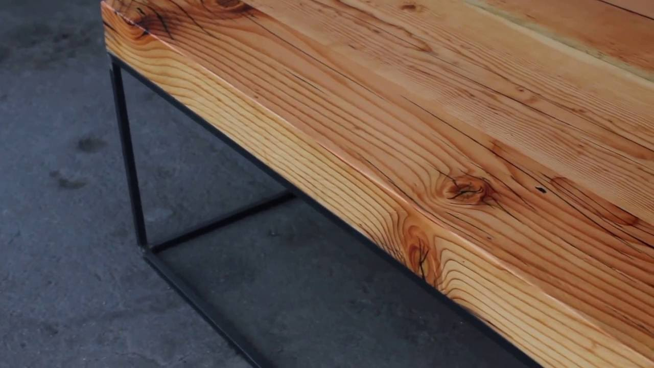Reclaimed Beam Coffee Table