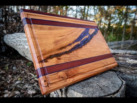 Making a Purple heart and Cherry Cutting Board