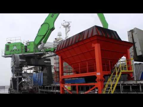 SENNEBOGEN - Port Handling: 875 Material Handler E-Series Handling Coal In Port Aksa, Turkey