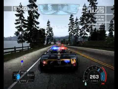 NFS Hot Pursuit 2010 Pagani Zonda Cinque(Police car) - YouTube