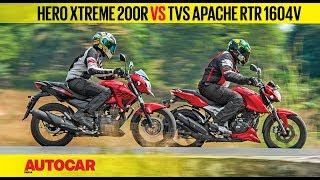 Hero Xtreme 200r Vs Tvs Apache Rtr 160 4v | Comparison Test | Autocar India