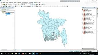 Geoprocessing in ArcGIS || Basic ArcGIS || Buffer, Clip, Dissolve, Intersect, Merge, Union.(Bangla)