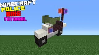 Minecraft Tutorial: How To Make A Police Bike