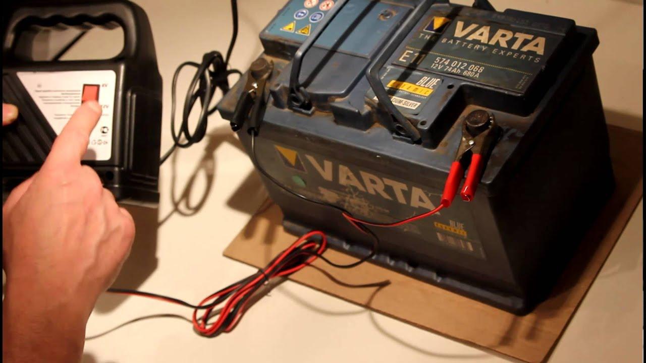 можно ли заряжать вздутый автомобильный аккумулятор