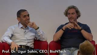 At the world's top 50 innovators conference 2019, in response to a question from fellow presenter, dr ugur sahin, ceo of biontech, explains how he didn't h...