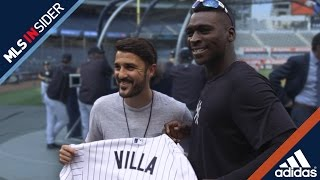 David villa isn't just interested in scoring goals at yankee stadium – he wants to see some home runs, too.the new york city fc star recently hung out with n...