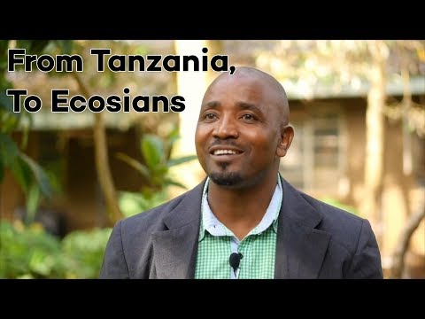 From Tanzania, to all Ecosians