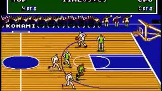 Double Dribble USA Rev A Nes Gameplay video Snapshot
