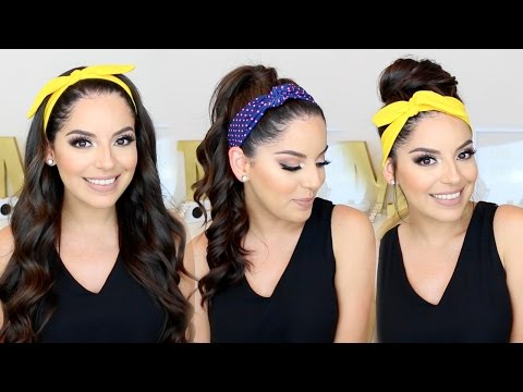 Simple hairstyles using headbands
