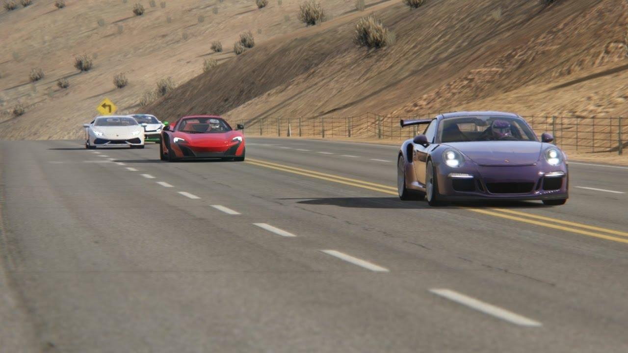 Battle Porsche 911 GT3 RS vs Ferrari 488, Huracan, Nissan ...