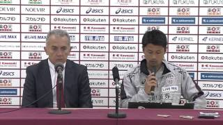 2015Jリーグヤマザキナビスコカップ 準決勝 第1戦 神戸vs鹿島 ネルシーニョ監督(神戸)試合後コメント