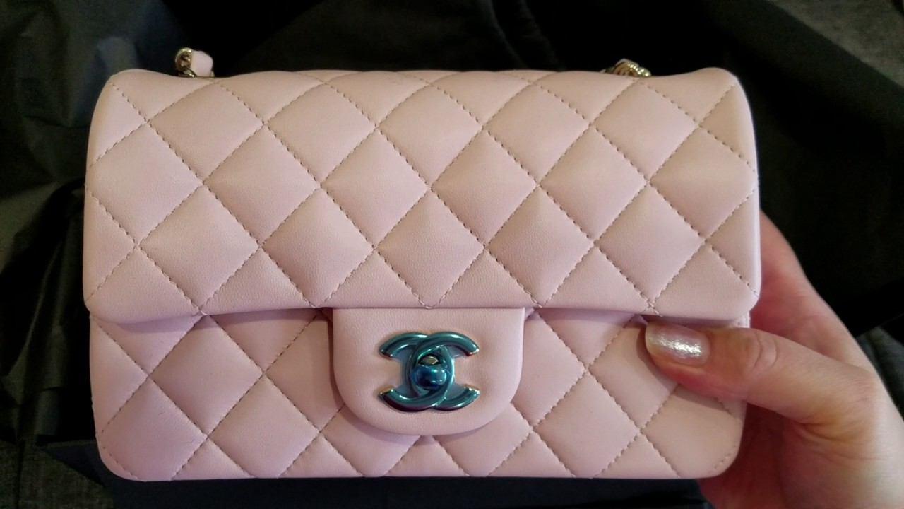 75eca88358 Chanel classic flap bag light pink mini unboxing - 2017 Cruise New  Collections