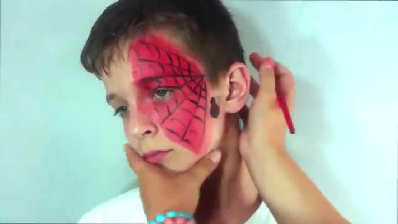 Аквагрим Паук и паутина. Как нарисовать простого человека паука. Праздник ТВ