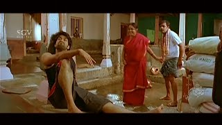 Yash's Hilarious Comedy Scene | Village People Celebrates for Yash Going to College | Kannada Movie