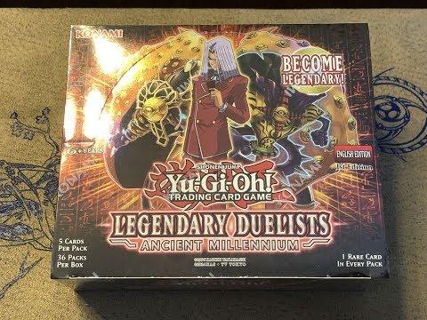 Yu-Gi-Oh! Legendary Duelist Ancient Millennium Booster Box Opening - Good Box!