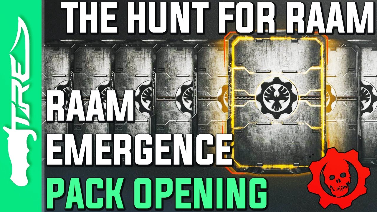 THE HUNT FOR GENERAL RAAM! - Gears of War 4 Gear Packs Opening - 14 RAAM EMERGENCE GEAR PACKS ...
