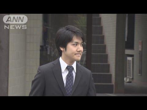 小室圭さんカメラの前で笑顔 横浜の自宅を出発(17/05/17)