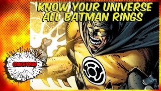 All Batman Power Rings (Green,Yellow,Black,White)- Know Your Universe | Comicstorian thumbnail