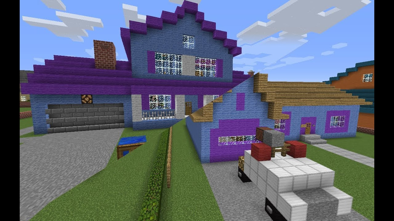 Minecraft evergreen terrace tour youtube for 1 the terrace