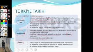 YGS Tarih -  Türkiye Tarihi / nettekurs.com Online YGS Kursu - Uzaktan Eğitim Dershanesi
