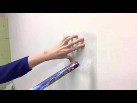 Static Electricity Exp5 Stick Plastic Film On The Wall