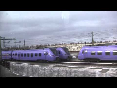 Train Journey from Copenhagen (Denmark) to Malmö (Sweden) - 7th January, 2016