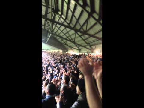 Newcastle fans singing The Blaydon Races seconds after going 2-0 up v Liverpool
