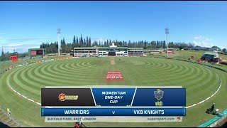 Momentum One-Day Cup | Warriors vs VKB Knights