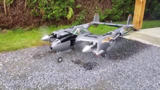 Essais moteurs OS MAX 46FX P-38 Lightning