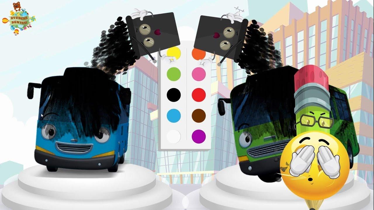 2bölüm Tayo Küçük Otobüs Ile Boyama Oyunu Oynuyoruz Youtube