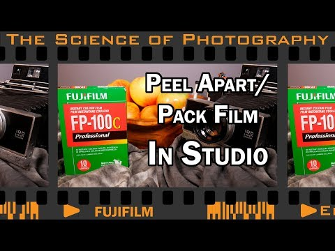 Photographing in Studio with Fuji FP-100C Peel Apart/Pack Film