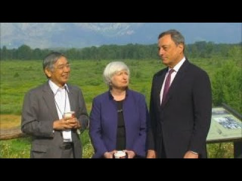 Janet Yellen attends Jackson Hole Economic Symposium