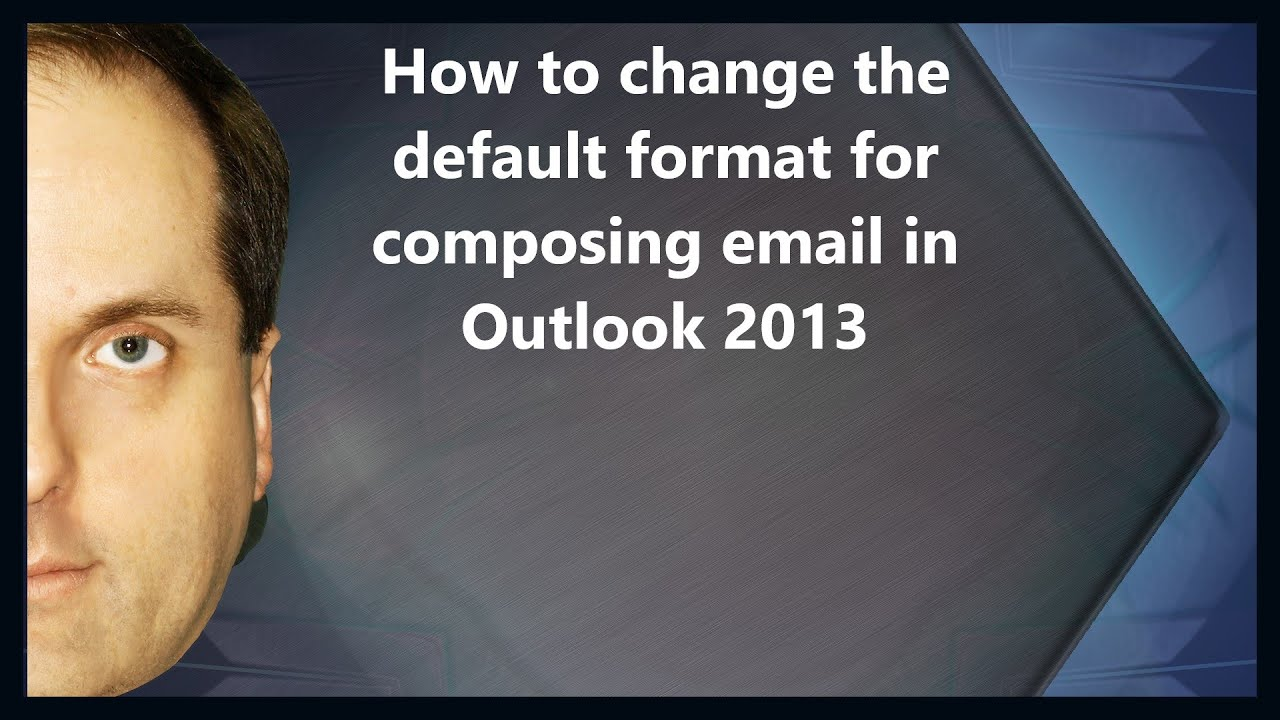 how to change outlook outline