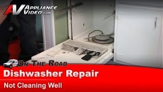 Whirlpool, Maytag, Sears Dishwasher Repair & Diagnostic - Not Cleaning Well -  Du1100xtpq1