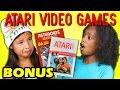 KIDS REACT TO ATARI 2600 VIDEO GAMES (E.T. and Asteroids) (Bonus #157)