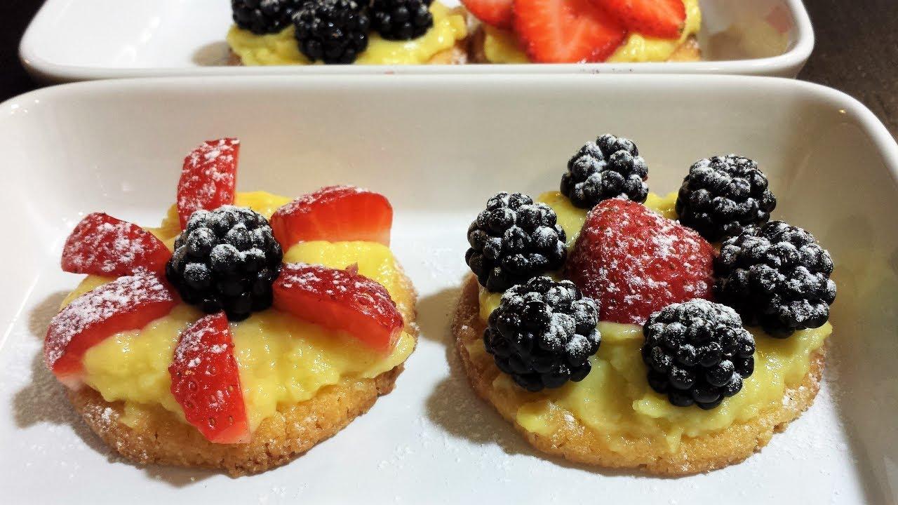 Crostatine Alla Frutta Fresca Senza Stampo Youtube