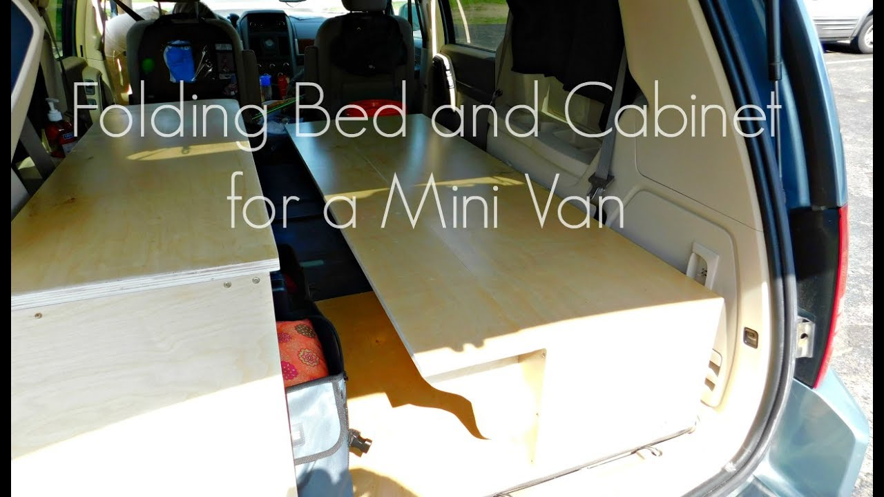 Building a Folding Bed & Cabinet for a Mini Van | Izzy Swan