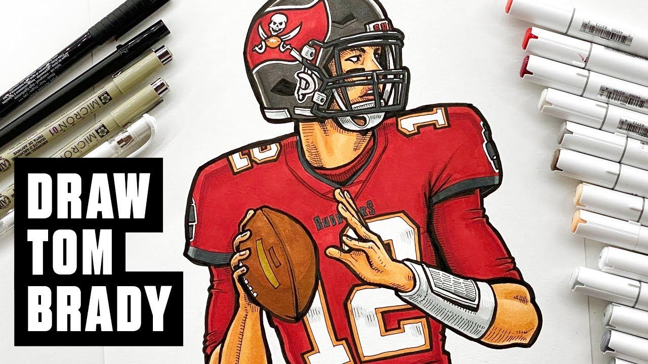 How to Draw Tom Brady Tutorial