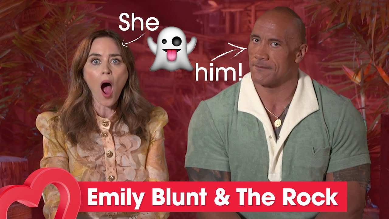 Emily Blunt ghosted The Rock before accepting Jungle Cruise role   Full Interview   Heart